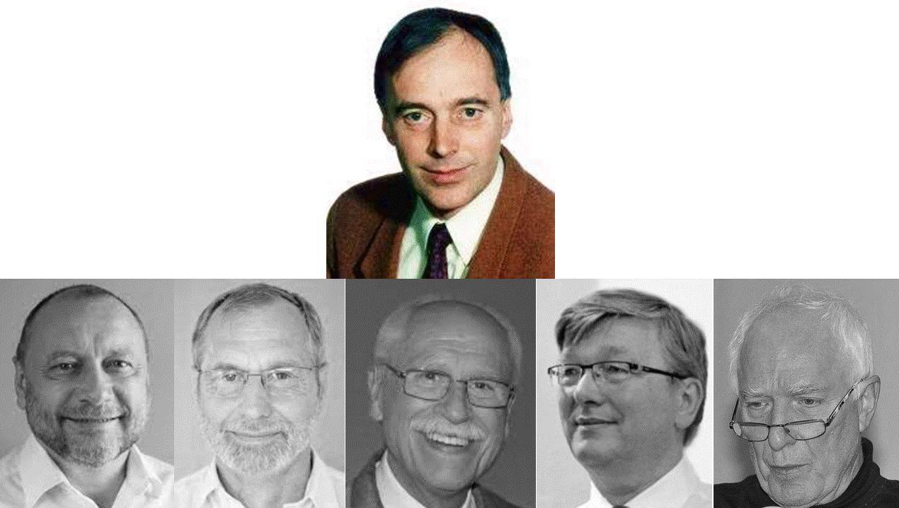 Pastorská skupinka činovníků KMS (foto protagonistů z pozdější doby)